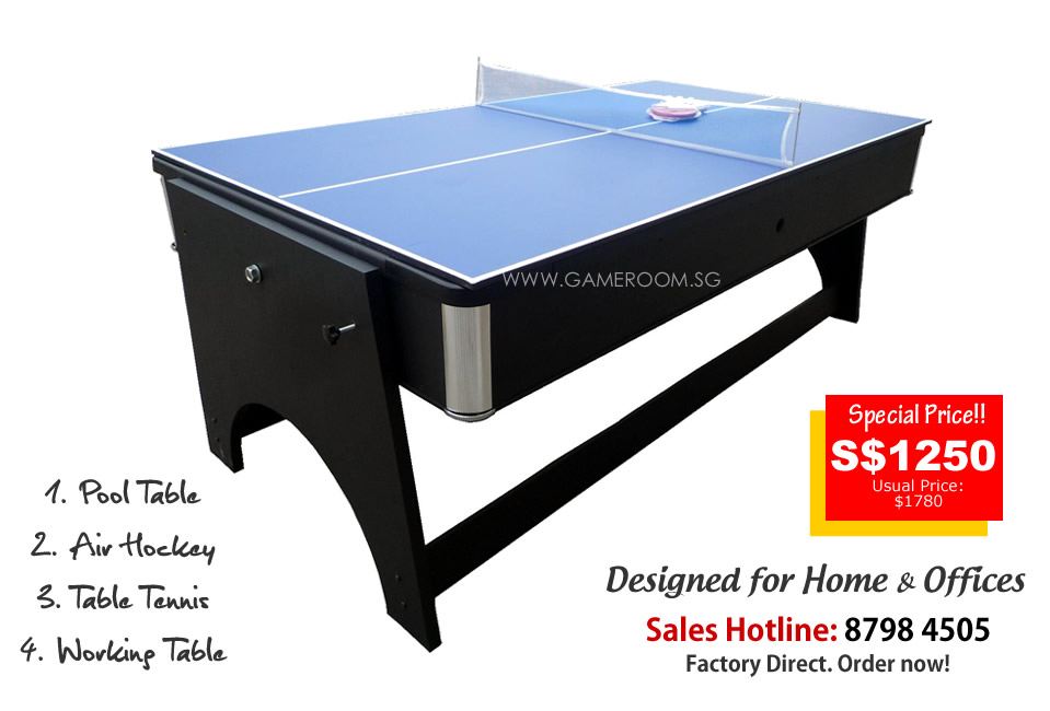 Singapore Leading 3 In 1 Billiard Amp Air Hockey Amp Table