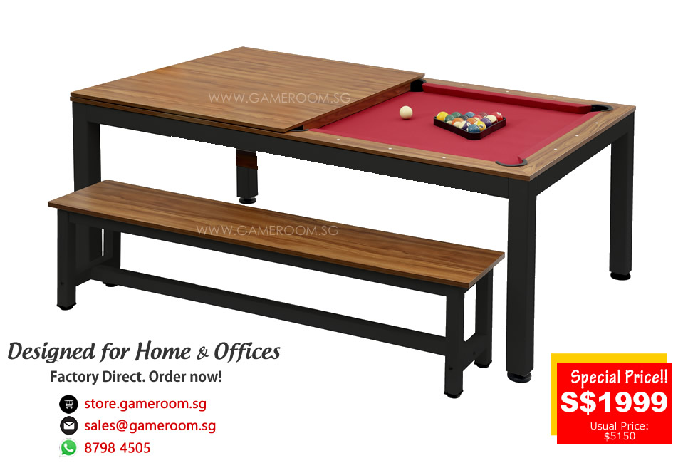 singapore leading 2 in 1 dining top pool table factory outlet