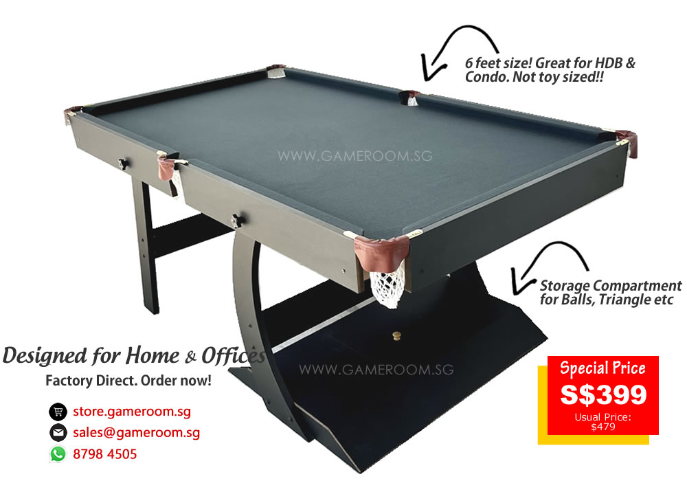 Forget About The Traditional Pool Table Which Are Bulky To Move Around Or  Even To Get It Pass Your Front Door! Get Our Foldable Pool Table Now!