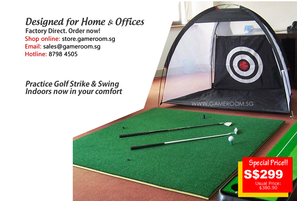 Singapore Indoor Golf Putting Leisure Set for Home & Office